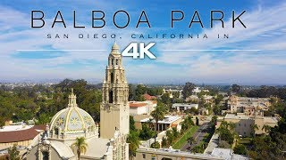 [4K] Balboa Park, San Diego + Relaxing Piano Music - 10 Minute Ambient Film - DJI Mavic 2 Pro
