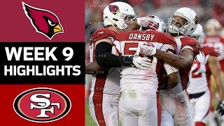 Cardinals vs. 49ers | NFL Week 9 Game Highlights