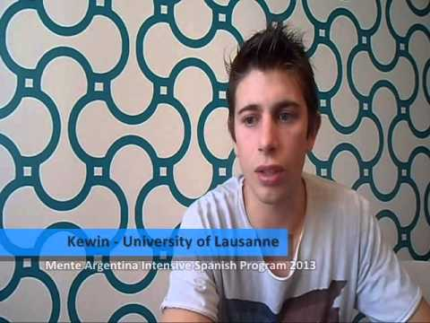 Review from Kewin, student from University of Lausanne -- Switzerland, participated in the Mente Argentina Intensive Spanish Program 2013