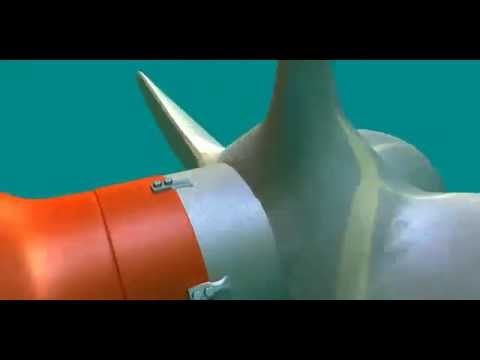 Underwater installment of a net cutter v3-2016