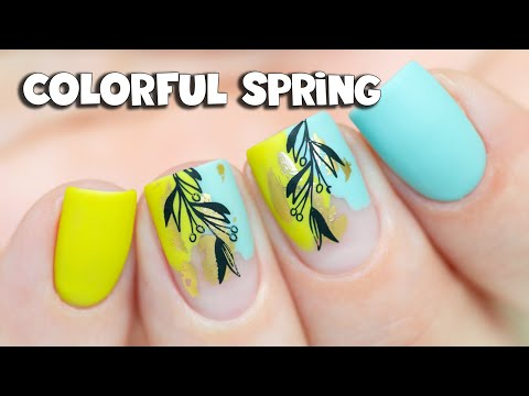 Colorful Spring Nail Art | NEW Indigo Think Spring Collection