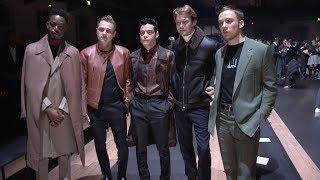 Rami Malek, Joe Cole, Joe Alwyn, Ben Hardy and more at Dunhill Fashion Show