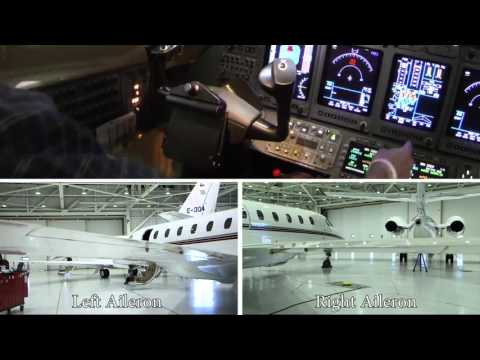 Aileron Position Indication - MEL Procedure for the Citation X