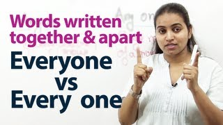 English Grammar Lessons - Words written together or apart.