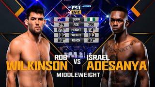 UFC Debut: Israel Adesanya vs Rob Wilkinson | Free Fight