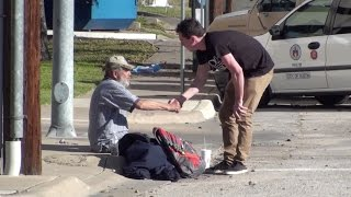 Homeless Man MONEY PRANK
