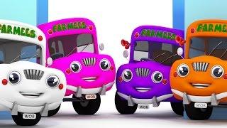 The Wheels On The Bus   Vehicle Songs   Nursery Rhymes Farmees   Kids Songs by Farmees