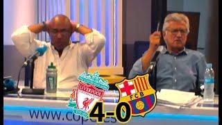 La reacción al 4º gol del Liverpool que eliminó al Barcelona de la Champions en COPE