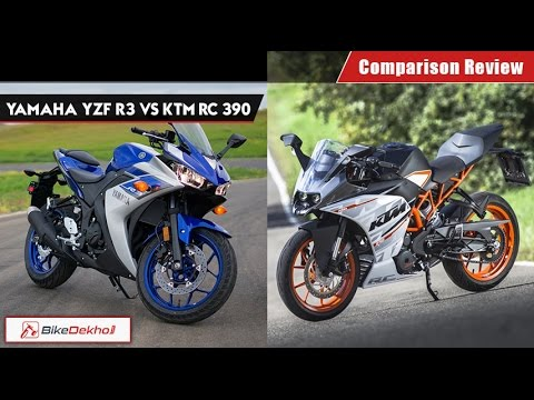 Yamaha R3 vs KTM RC390 | Comparison Review | BikeDekho.com
