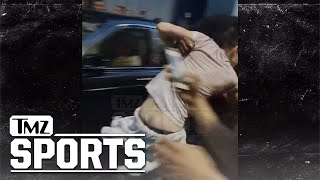 Mayweather Harassed By Crazy McGregor Fans, Security Hit By Rolls Royce | TMZ Sports