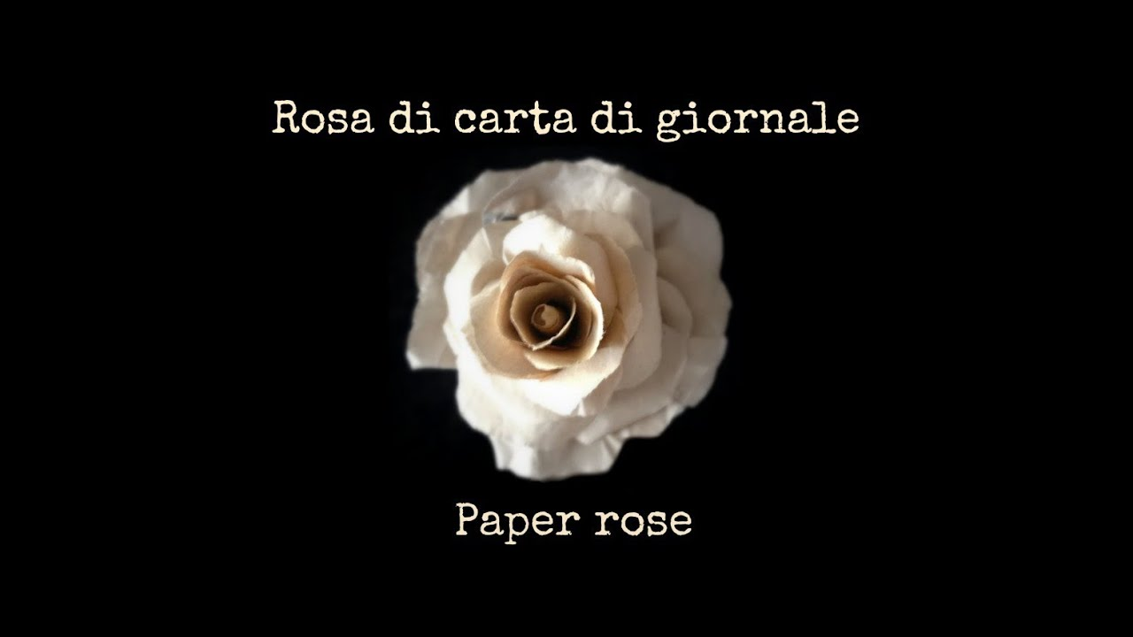 Rose di carta fai da te arte per te youtube for Arte fai da te