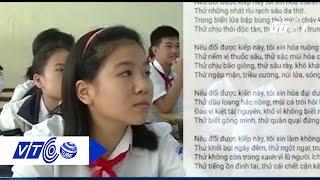 Học sinh lớp 8 'Xin đổi kiếp này' gây sốc   VTC