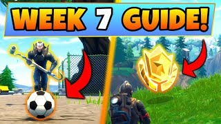 Fortnite WEEK 7 CHALLENGES GUIDE! – SOCCER PITCH LOCATIONS, Treasure MAP (Battle Royale Seeason 4) - YouTube