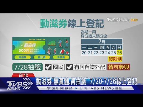 """限400萬份! 500元動滋券可""""運動.觀賽.購物"""""""