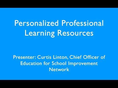 Personalized Professional Learning Resources Webinar