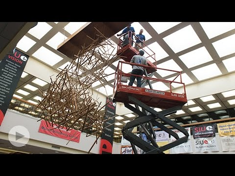 SIUE's Iconic Plumb-Bob Undergoes Removal and Restoration