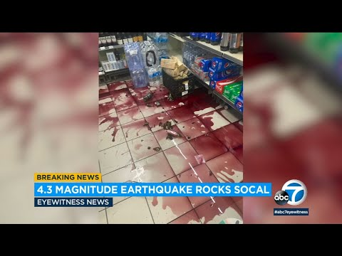Carson earthquake: Footage captures moment quake rattled Southland | ABC7