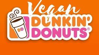 Vegan Dunkin Donut Menu