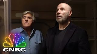 Jay Leno's Garage: Full Opening - 'Sky's The Limit' With John Travolta | CNBC Prime