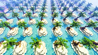 I Gave 200 Minecraft Players one chunk each to build their own Island
