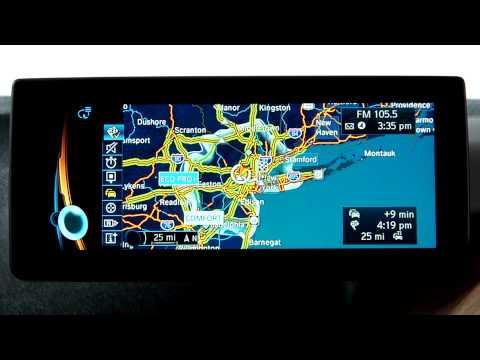 BMW i Navigation System: Intermodal Information