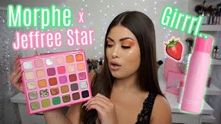 JEFFREE STAR x MORPHE Collection! 🍓Swatches, Tutorial & The Tea!