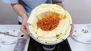 핵불닭볶음면에 치즈 100장 넣어 먹기[푸른Pureun]Ramen with 100 slice of cheese Mukbang Eating Show ラーメンにチーズ100枚入れて食べる