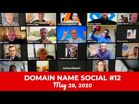 Michael Cyger's Domain Name Quarantine Social #12 (May 22, 2020)