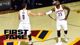 Stephen A. Smith reacts to LeBron James telling Kevin Love about position change | First Take | ESPN