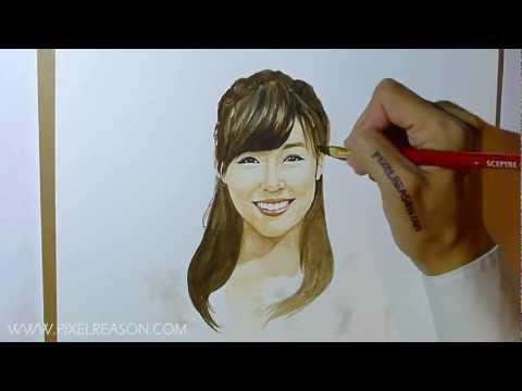 Happy Birthday SNSD Tiffany 2012 ! Watercolor Speed Painting 720p HD