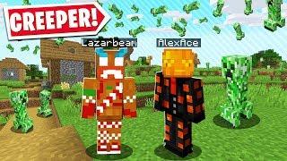Minecraft BUT IT'S RAINING CREEPERS.. Ft. Lazarbeam