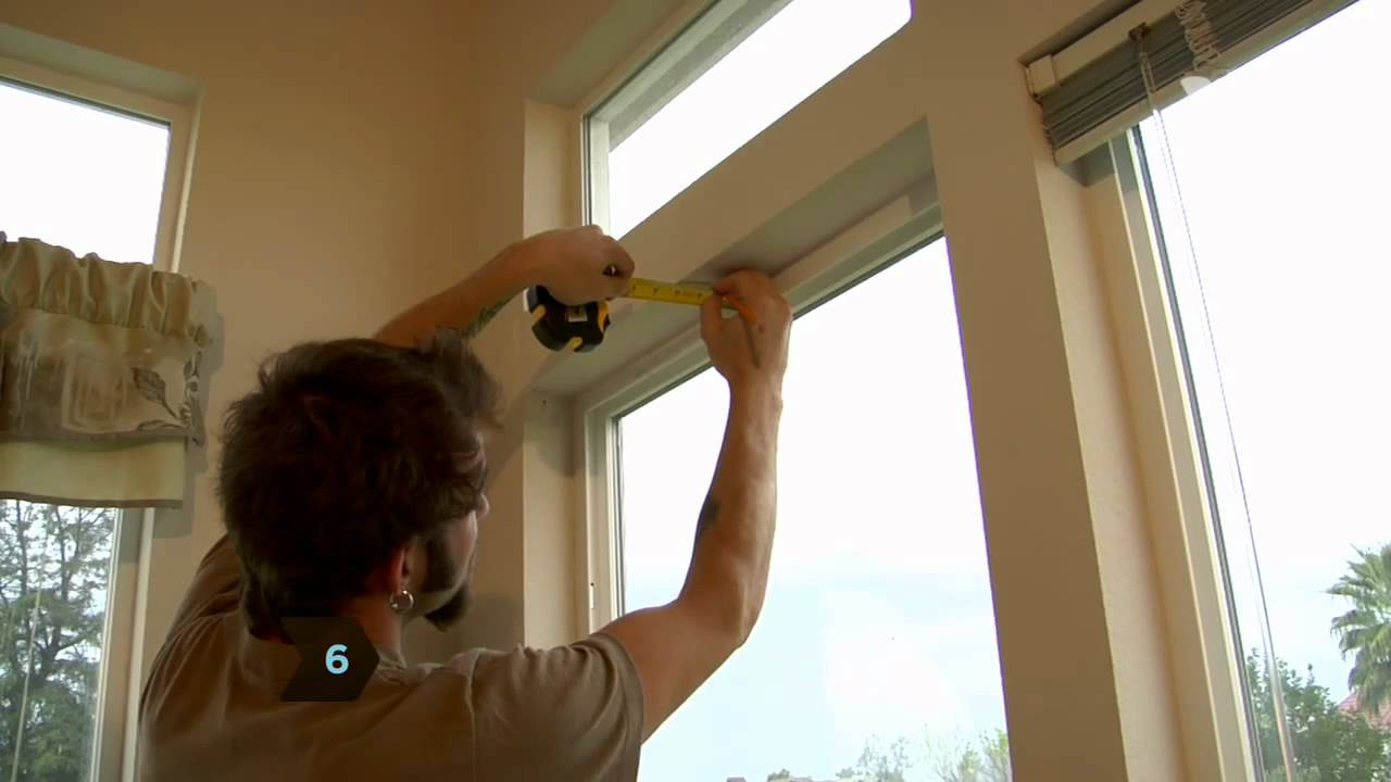 How To Install Window Blinds Youtube