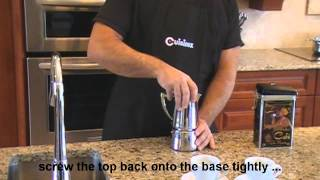 How To Use A Stove Top Espresso Coffee Maker Youtube