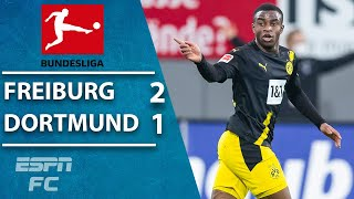 Youssoufa Moukoko goal can't save Borussia Dortmund in Freiburg loss | ESPN FC Bundesliga Highlights