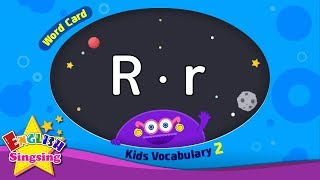 "Kids vocabulary compilation ver.2 - Words Cards starting with R, r - Repeat after ""Ting (sound)"""