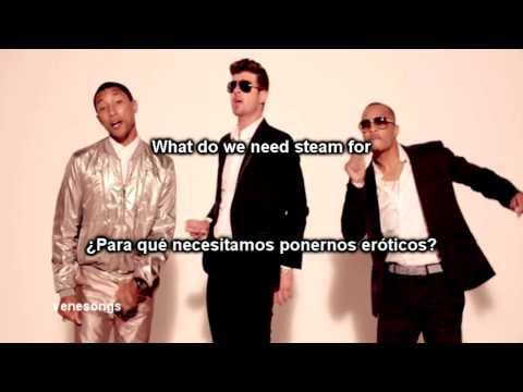 Baixar Robin Thicke - Blurred Lines ft. T.I., Pharrell (Letra Español-Inglés)