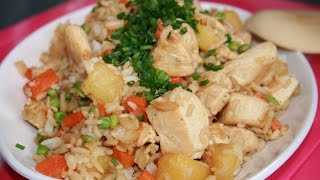 Recettes de cuisine : Chocmiel Poulet frit ananas et légumes en vidéo