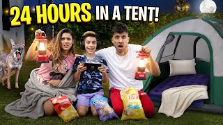 SURVIVING OVERNIGHT In Our BACKYARD Challenge! 😱 | The Royalty Family