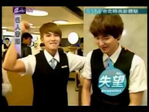 Kyuhyun and Ryeowook Serve Customers as Waiters