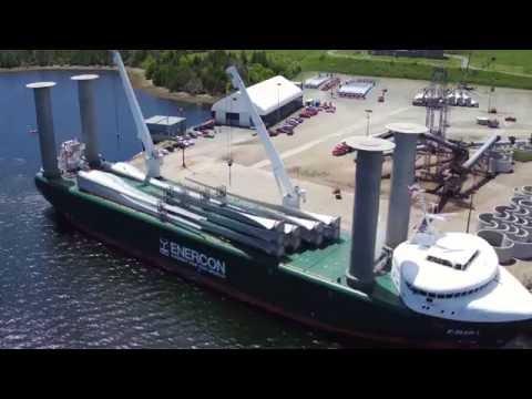 E-Ship 1 Drohnenflug in Kanada