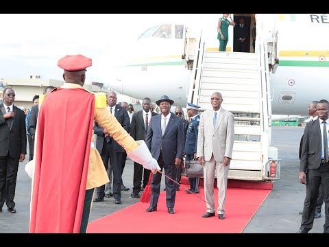 Arrivée du Président OUATTARA à Ouagadougou pour le sommet sur la lutte contre le terrorisme