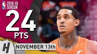 Jordan Clarkson Full Highlights Cavaliers vs Hornets 2018.11.13 - 24 Pts, 2 Ast, 5 Rebounds!