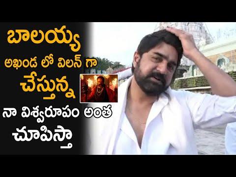 Actor Srikanth offers prayers at Tirumala