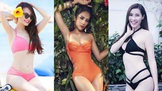Đọ độ nóng bỏng khi mặc bikini của Nhã Phương, Nam Em và Quế Vân