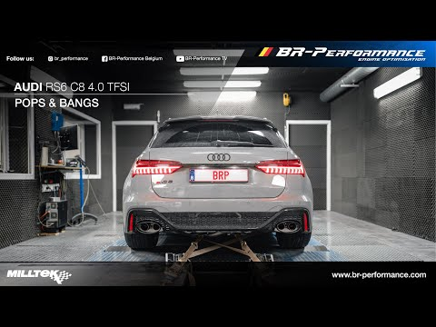 2020 Audi RS6 C8 / Pops & Bangs By BR-Performance / MILLTEK exhaust