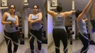 Punarnavi Bhupalam latest workout video at home..