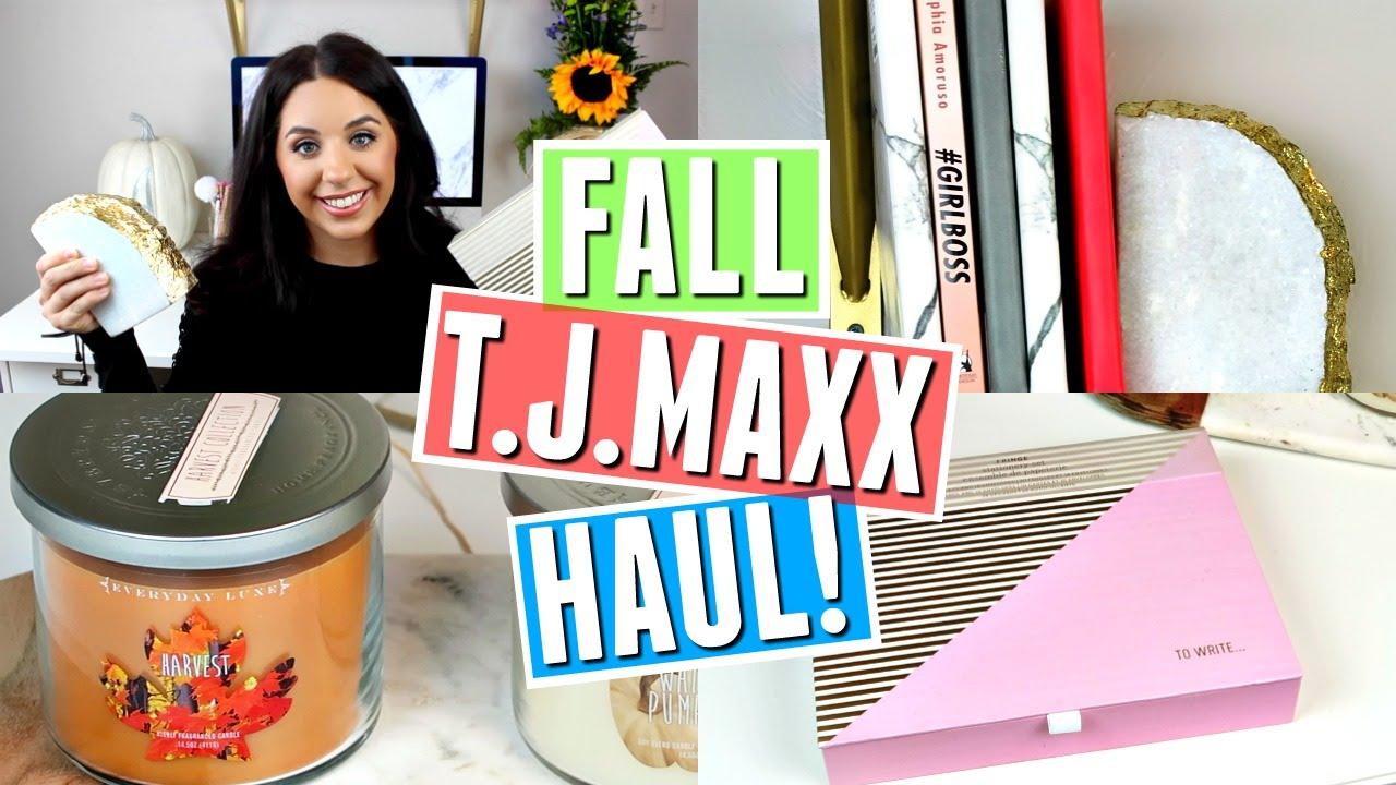 T.J.MAXX FALL HOME DECOR HAUL! SEPTEMBER 2016!