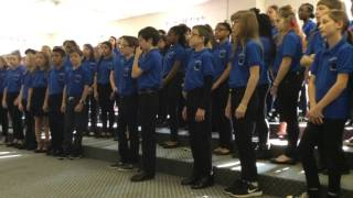 6th grade vocal warm up for adjudication March 20, 2017