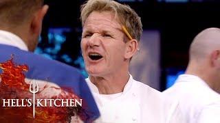 Raw White Fat Makes Gordon Ramsay Kick Off The Team | Hell's Kitchen