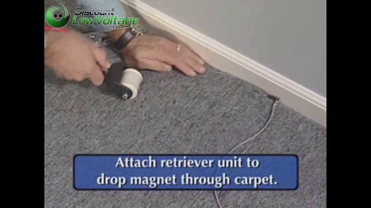 How To Pull Cable Wire Under Carpet Youtube